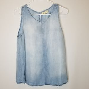 CLOTH & STONE Denim Chambray Top Size Medium